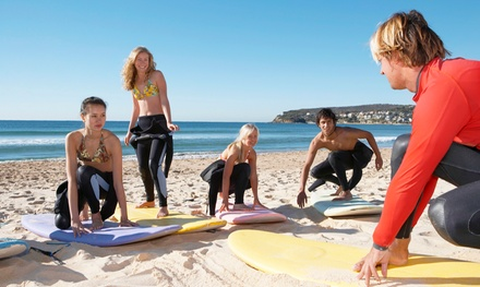 Private, Semi-Private, or Group Surfing Lesson at Vast Oceans Stoked Surf School (Up to $90 Off)