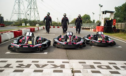 image for Karting for One or Two at Lakeside or Brentwood Karting, Two Locations (54% Off)