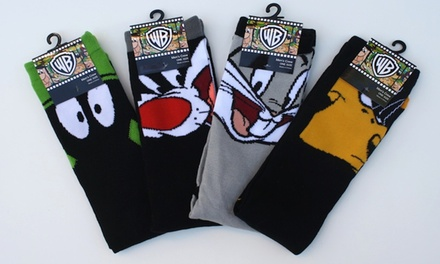 Warner Brother's Men's Character Socks (4-Pack)