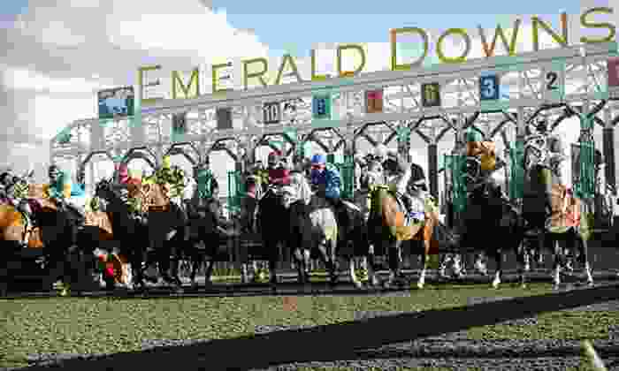 Emerald Downs - Emerald Downs: $10 for a Horseracing Package with Souvenir Program and Food Voucher at Emerald Downs (Up to $19.50 Value)
