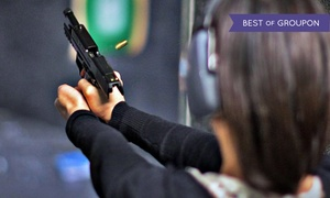 DVC Indoor Shooting Centre: Shooting-Range Package with Handgun Rental and Ammunition for One or Two at DVC Indoor Shooting Centre (40% Off)