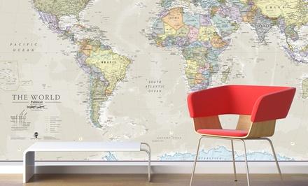 Carte du monde murale, classique et géante, à 27,99€