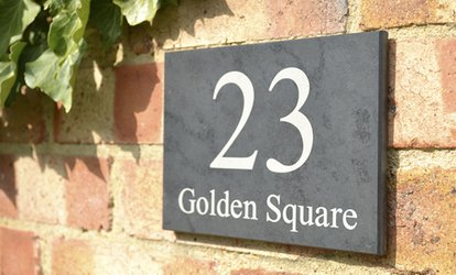 image for Personalised Slate House Sign from Design a House Sign (44% Off)
