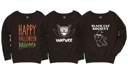 Ladies' Halloween Slouchy Pullover