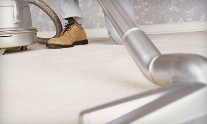 Excalibur Carpet Cleaning Service - Multiple Locations: $49 for Carpet Cleaning with Scotchgard for Three Rooms from Excalibur Carpet Cleaning Service (Up to $120 Value)