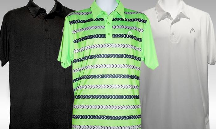 Head Deuce or Fadeaway Men's Polos: Head Deuce or Fadeaway Men's Polos. Multiple Styles Available.