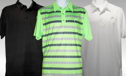 Head Deuce or Fadeaway Men's Polos. Multiple Styles Available.