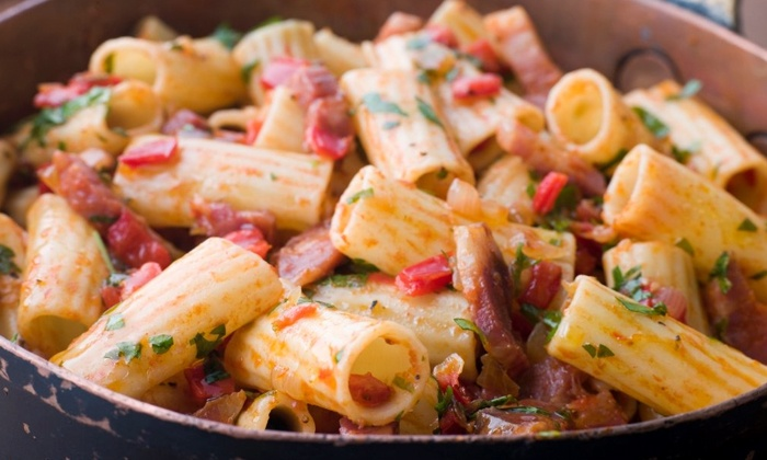 Pastori's Restaurant & Bar - Ellington: Pizza, Pasta, and Fresh Seafood at Pastori's Restaurant & Bar (50% Off). Two Options Available.
