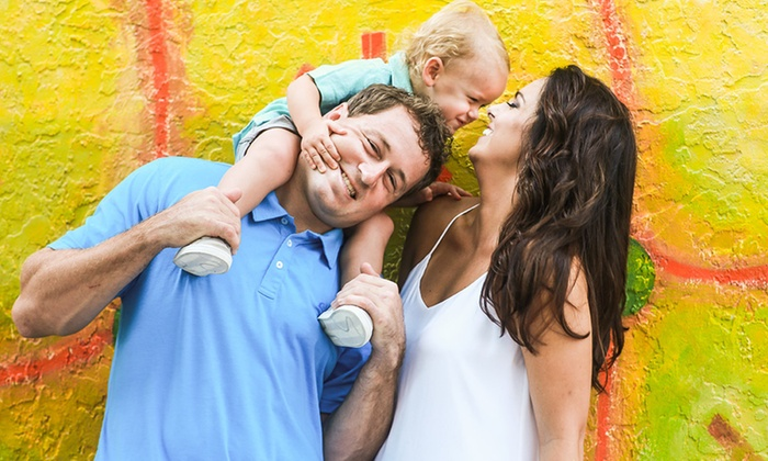 District 13 Photo - Fort Lauderdale: 60-Minute Outdoor Family Portrait Photo Shoot with Digital Images from District 13 Photography (70% Off)
