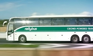 Rally Bus: $75 for Round-Trip Transportation for Two to Any Event from Rally Bus ($140 value)