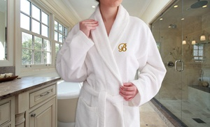 Monogrammed Luxury 100% Turkish Cotton Bathrobe
