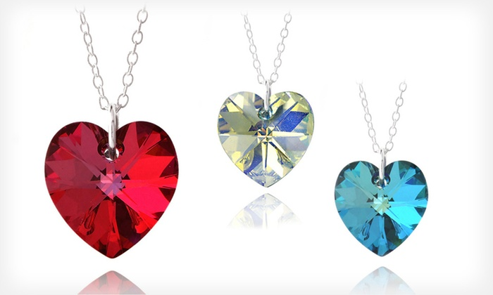 Heart Pendant with Swarovski Elements: $8 for a Heart Pendant with Swarovski Elements Crystals ($75 List Price). Three Colors Available. Free Returns.