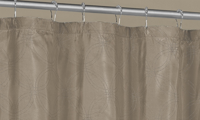 Belle Metallic Shower Curtain | Groupon Goods