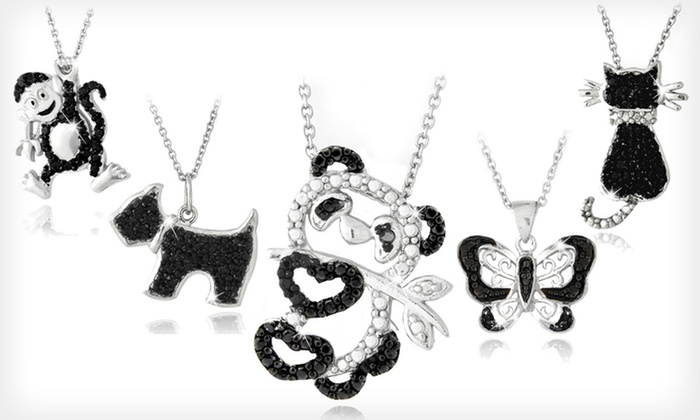 Black-Diamond-Accented Animal Pendants: $8.99 for a Black-Diamond-Accented Animal Pendant ($80 List Price). 13 Styles Available. Free Returns.