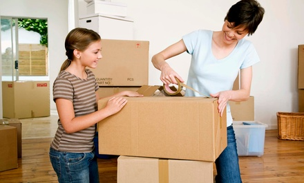 Two or Three Hours of Moving Services with Two Movers and Supplies from Expert Movers DFW (Up to 55% Off)