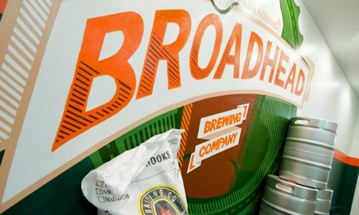 Broadhead Brewing Company - Ottawa: Brewery Tour with Samplers and Optional T-shirts for One or Two at Broadhead Brewing Company (Up to 53% Off)