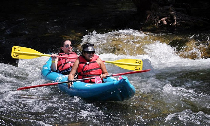 River Journey Adventures - Multiple Locations: $34 for Self-Guided Tandem Kayaking for Two on Stanislaus River from River Journey ($69 Value)
