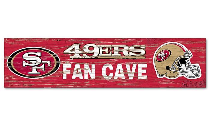 "San Francisco 49ers 24"" Distressed Fan Cave Sign: San Francisco 49ers 24"" Distressed Fan Cave Sign"
