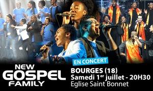 Master Music: 1 place assise pour New Gospel Family, le 1er juillet 2017 à 20h30 à 12 € à l'Eglise Saint-Bonnet à Bourges