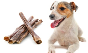 25 pack of usa sourced 6 bully sticks for dogs groupon. Black Bedroom Furniture Sets. Home Design Ideas