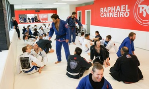 Fenix Brazilian Jiu-Jitsu: 5 or 10 Individual or One Month of Brazilian Jiu Jitsu or Muay Thai Classes at Fenix Brazilian Jiu-Jitsu (Up to 70% Off)
