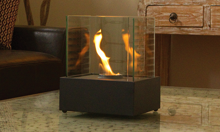 Eco friendly indoor fire place groupon goods for Eco friendly fireplace