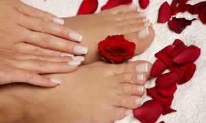 Charo's Hair Design & Day Spa: Up to 56% Off No Chip Manicure and Pedicure at Charo's Hair Design & Day Spa