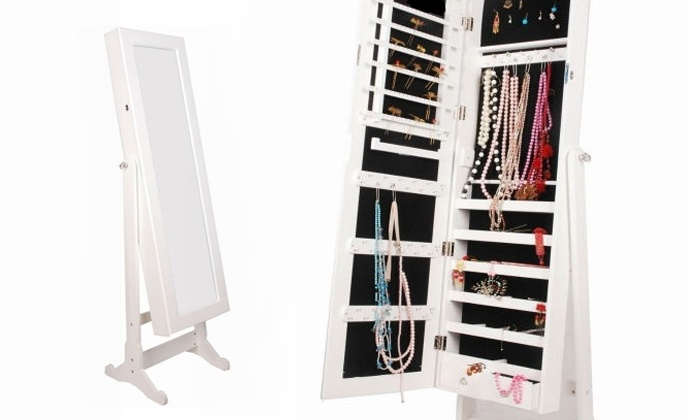 BTExpert - Brea: $200 for a Jewelry Armoire Cabinet with Cheval Mirror from BTExpert ($400 Value)
