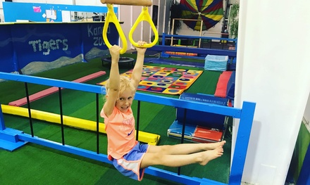 Four Weeks of Gymnastics, Dance, or Ninja Warrior Classes at Kids Unlimited Activity Center (Up to 57% Off)