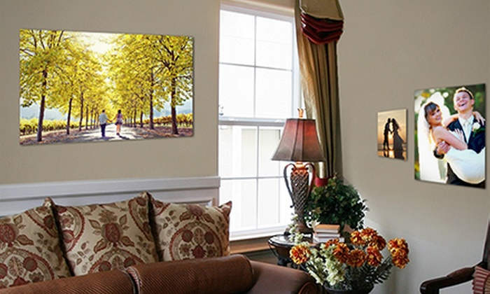 "Picture it on Canvas: 8""x10"", 11""x14"", 16""x20"", or 20""x30"" Metal Print from Picture It On Canvas (Up to 83% Off)"