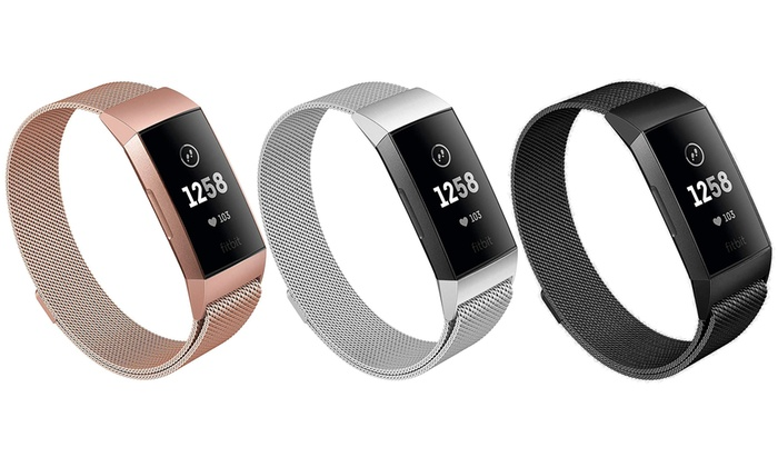 Up To 85% Off on Mesh Band for Fitbit Charge 3 | Groupon Goods