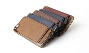 Waloo Leather Wallet Case For Apple Iphone 6