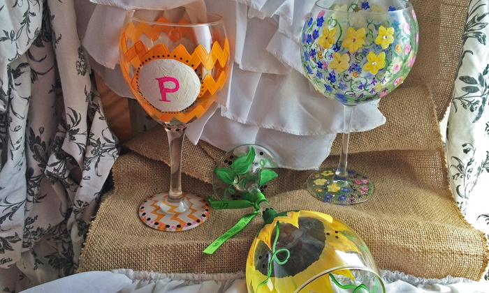 Le Painted Grape - Dallas: Wine Glass Painting Class for One, Two, or Three at Le Painted Grape (Up to 38% Off)