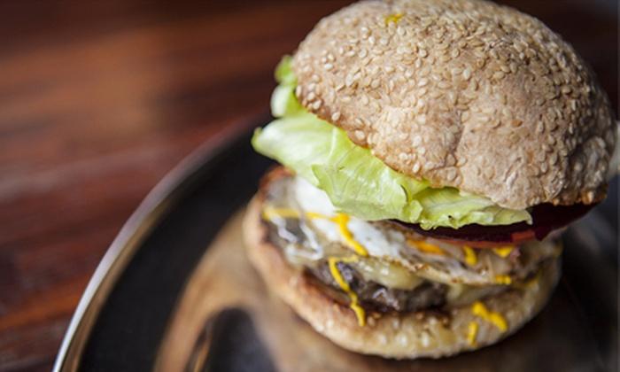 Baldwin Street Burger - Whitby: Two or Four Gourmet Burgers at Baldwin Street Burger (Half Off)