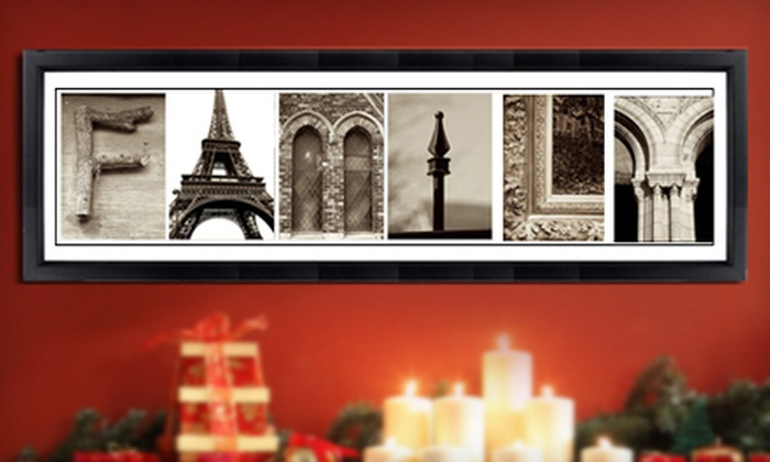 Imagine Letters: $25 for $75 or $49 for $150 Worth of Alphabet Wall Art from Imagine Letters