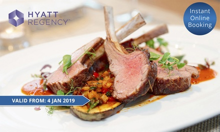 Five-Star Buffet Lunch with Bottle of wine for Two ($79) or Four People ($158) at Cafe at the Hyatt, CBD (Up to $295.80)