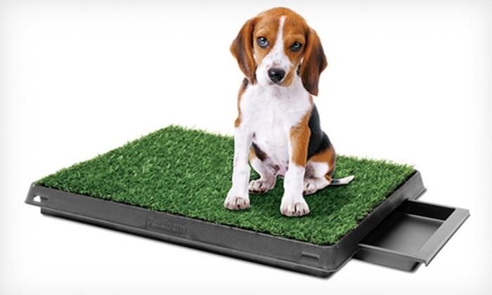 PetZoom Indoor Dog-Relief System: PetZoom Pet Park or Pet Park Deluxe Indoor Dog-Relief System (Up to 56% Off)
