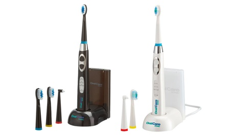 Oral Care Sonic Rechargeable Toothbrush with Three Optional Spare Heads