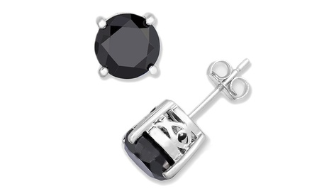 1/2 Carat Black Diamond Stud Earrings by Femme Luxe