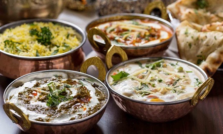 Two-Course Indian Meal for Two with Rice to Share at Shri Bheema's Indian Restaurant (Up to 63% Off)