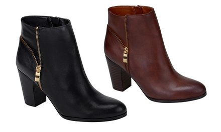 Ciao Bella Riley Women's Heeled Leather Ankle Boots
