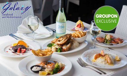 Lunch or Dinner: 1 ($30), 2 ($59.90) or 4 People ($119) at Galaxy Seafood & Mediterranean Restaurant (Up to $280 Value)