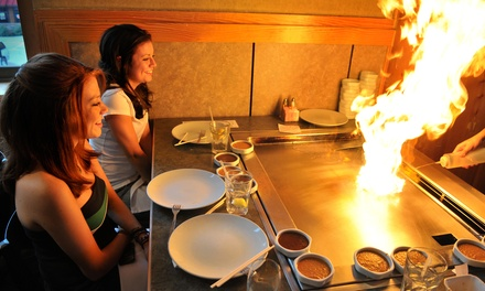 Live Teppanyaki Show and Dinner for Up to 12 (Up to $182) at Fujiyama Teppanyaki Japanese(Up to $370.80 Value)
