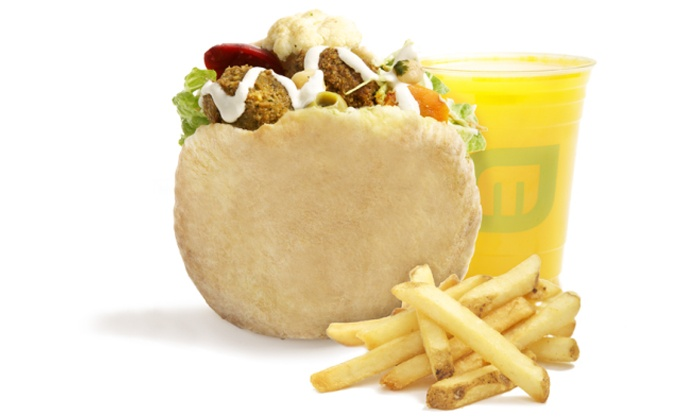 Maoz Vegetarian - New Brunswick: $15 for $20 Worth of Falafel and Vegan Shawarma for Two People at Maoz Vegetarian