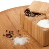 Bamboo Double Square Salt Box