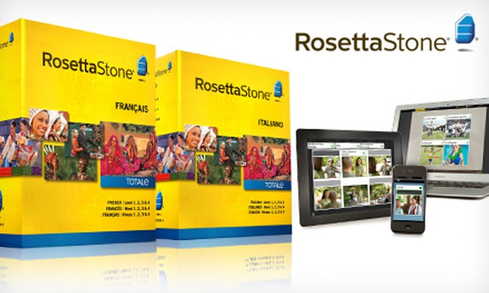 Rosetta Stone Language Solution: $299 for a Rosetta Stone Italian or French Level 1–4 Box Set  ($716 Unbundled List Price). Shipping Included.