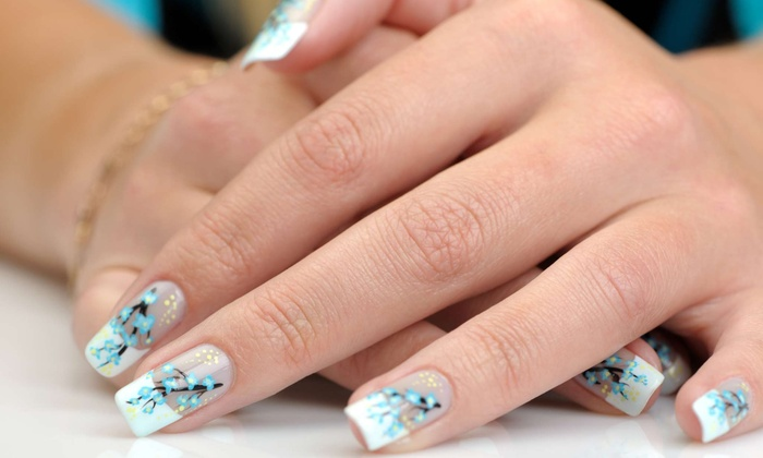 Luxy Nail Salon - Silverado Ranch: $15 for Two 3-D Nail Designs with Two Accessories at Luxy Nail Salon ($24 Value)
