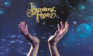 International Star Registry: Nommez une étoile pour quelqu'un et recevez un Star Gift Package d'International Star Registry
