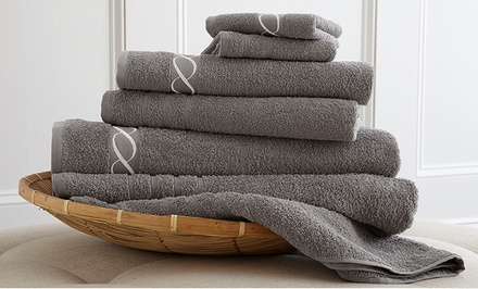 6-Piece Embroidered 100% Egyptian-Cotton Towel Set