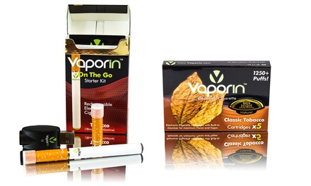 Vaporin eCig Mega Bundle with Tobacco eCigs